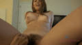 Excited Babe Shows Her Fuckable Hairy-Cunt