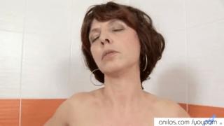 Mom Uses Shower To Cum