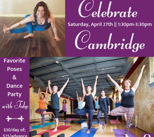 Celebrate Cambridge – Favorite Poses & Dance Party !
