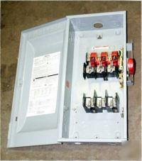 Siemens heavy duty switch HF363, 100A, 600VAC/dc, 3-ph