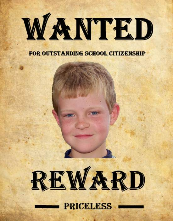 Create a Wanted Poster K-5 Computer Lab Technology Lessons - example of a wanted poster