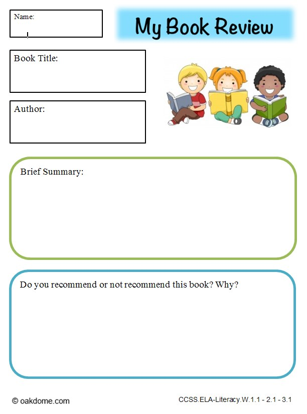 Book Report Instructions Grading Rubric - Mrs King