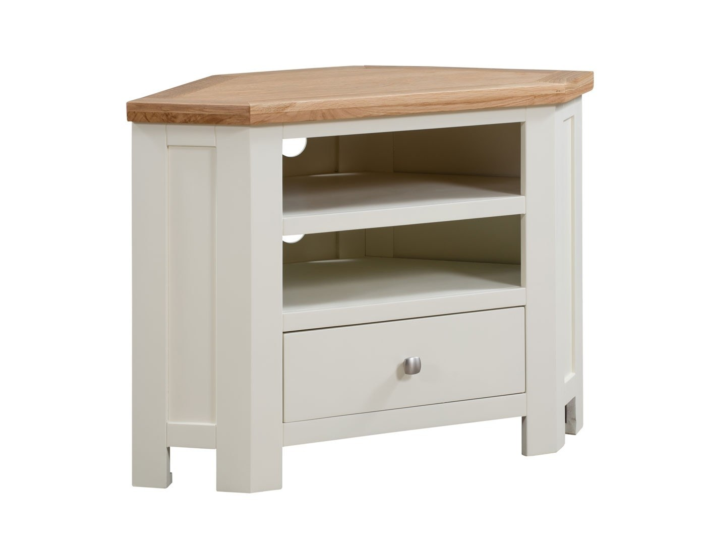 Dorset Painted Corner Tv Unit Oak Furniture House - Garden Furniture Clearance Company Dorset