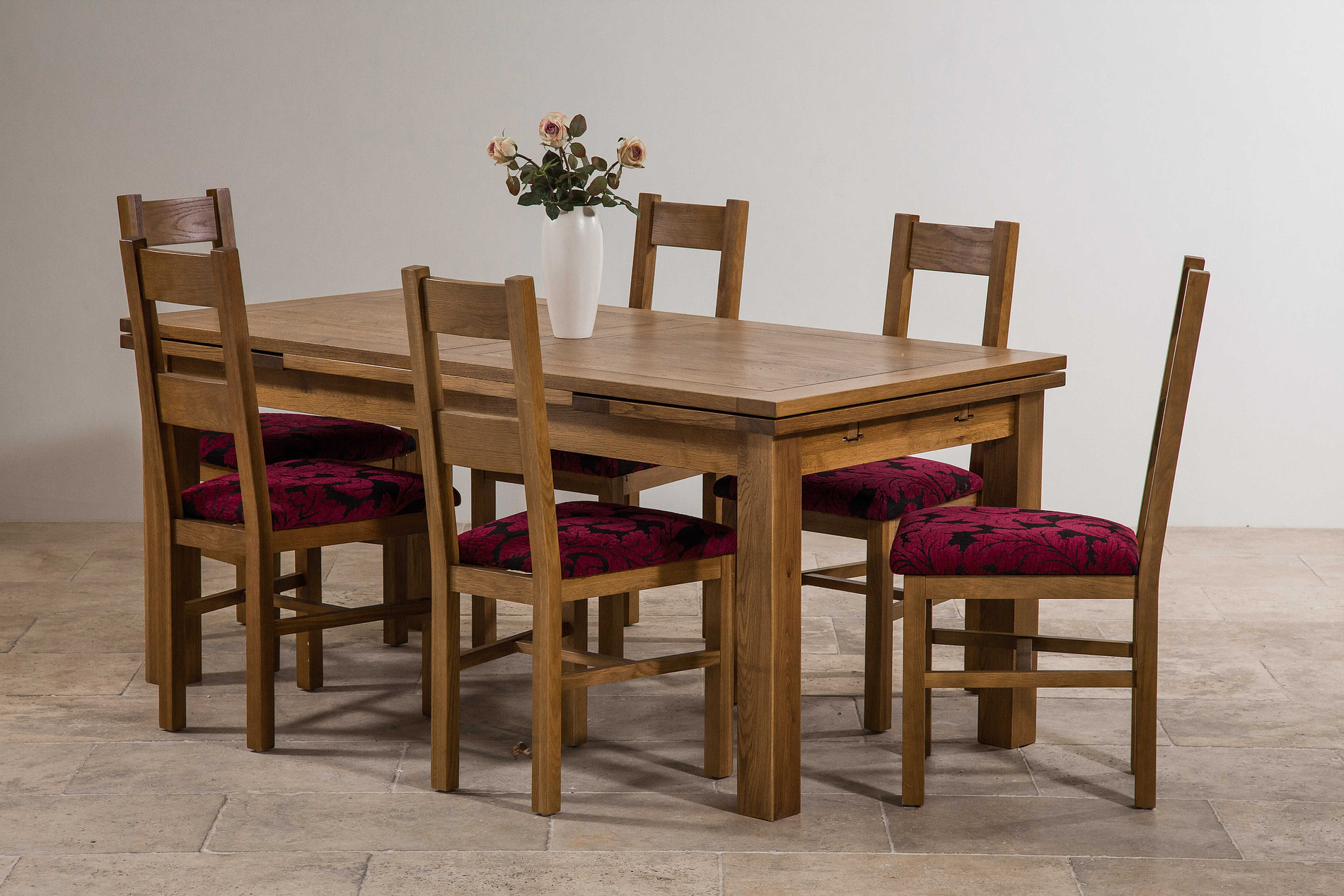 Dining Tables For 12 Persons 6ft X 3ft Rustic Solid Oak Extending Dining Table Seats
