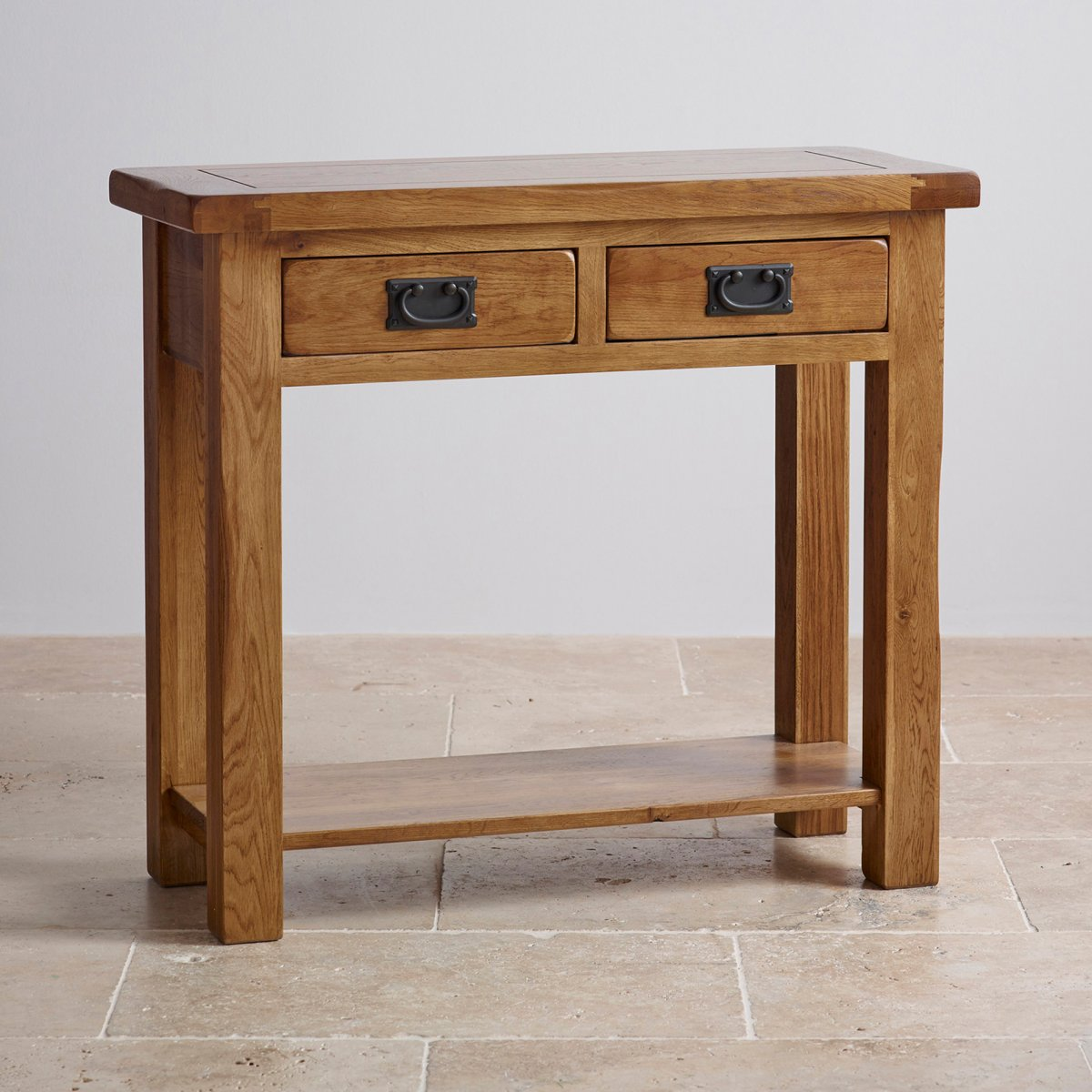 Console Table Original Rustic 2 Drawer Console Table In Solid Oak