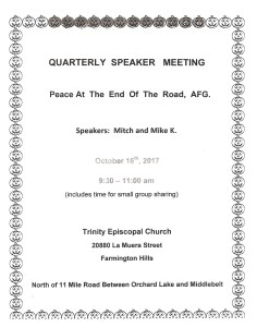 Quarterly Open Talk @ Trinity Episcopal Church | Farmington Hills | Michigan | United States
