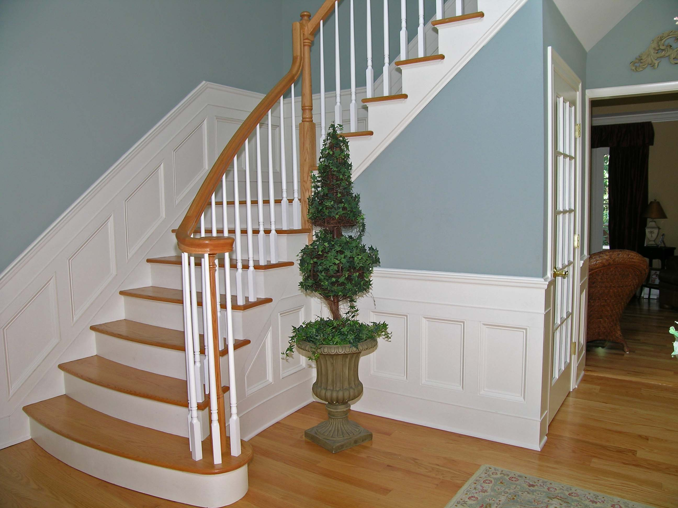 Paneled Staircase Trim Work Mantels And Built Ins