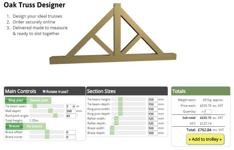 Oak Trusses - Design and Buy Online - Oak Timber Structures