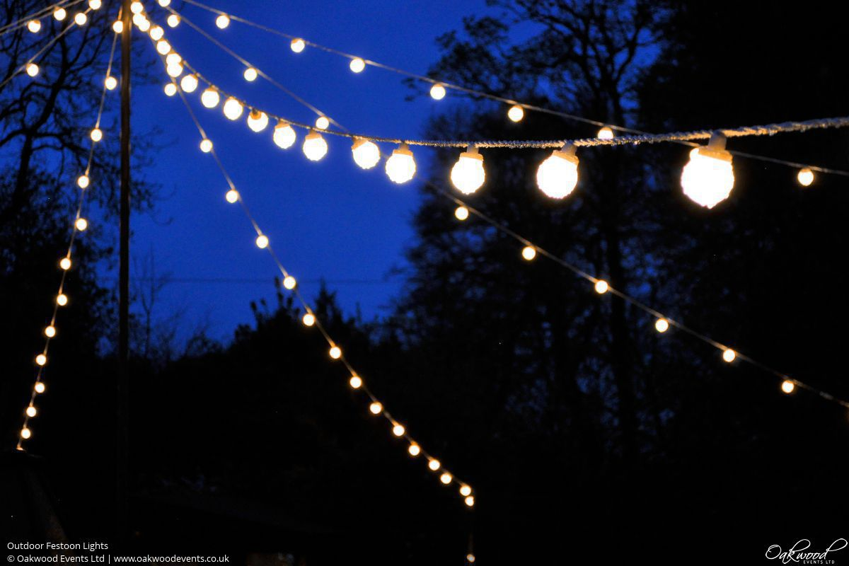 Verlichting Lampjes Outdoor Lighting Hire | Oakwood Events