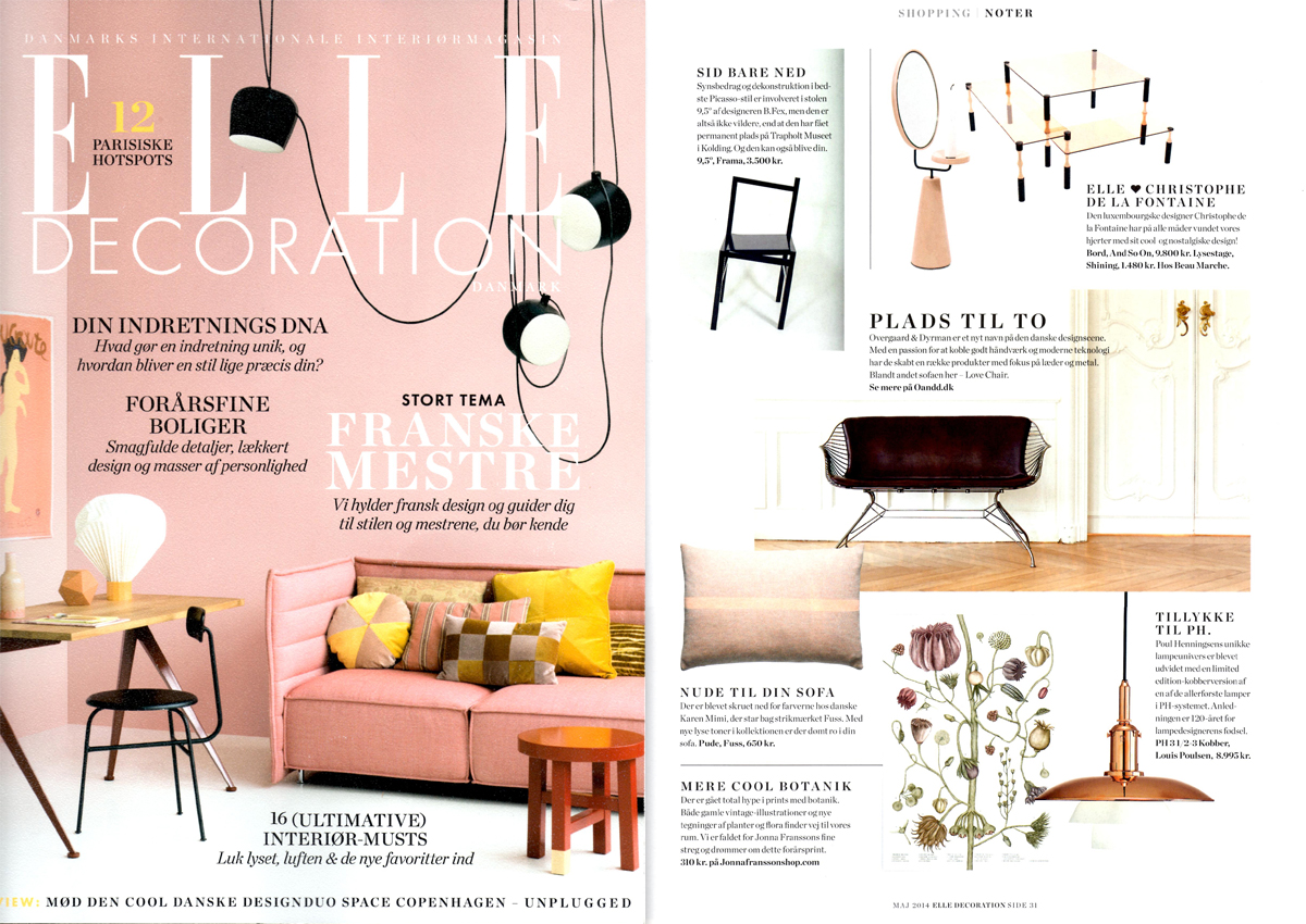 Elle Decoration Dk Press Coverage Overgaard Dyrman