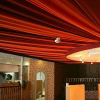 Draped finish for a restaurant ceiling - Oasis Events
