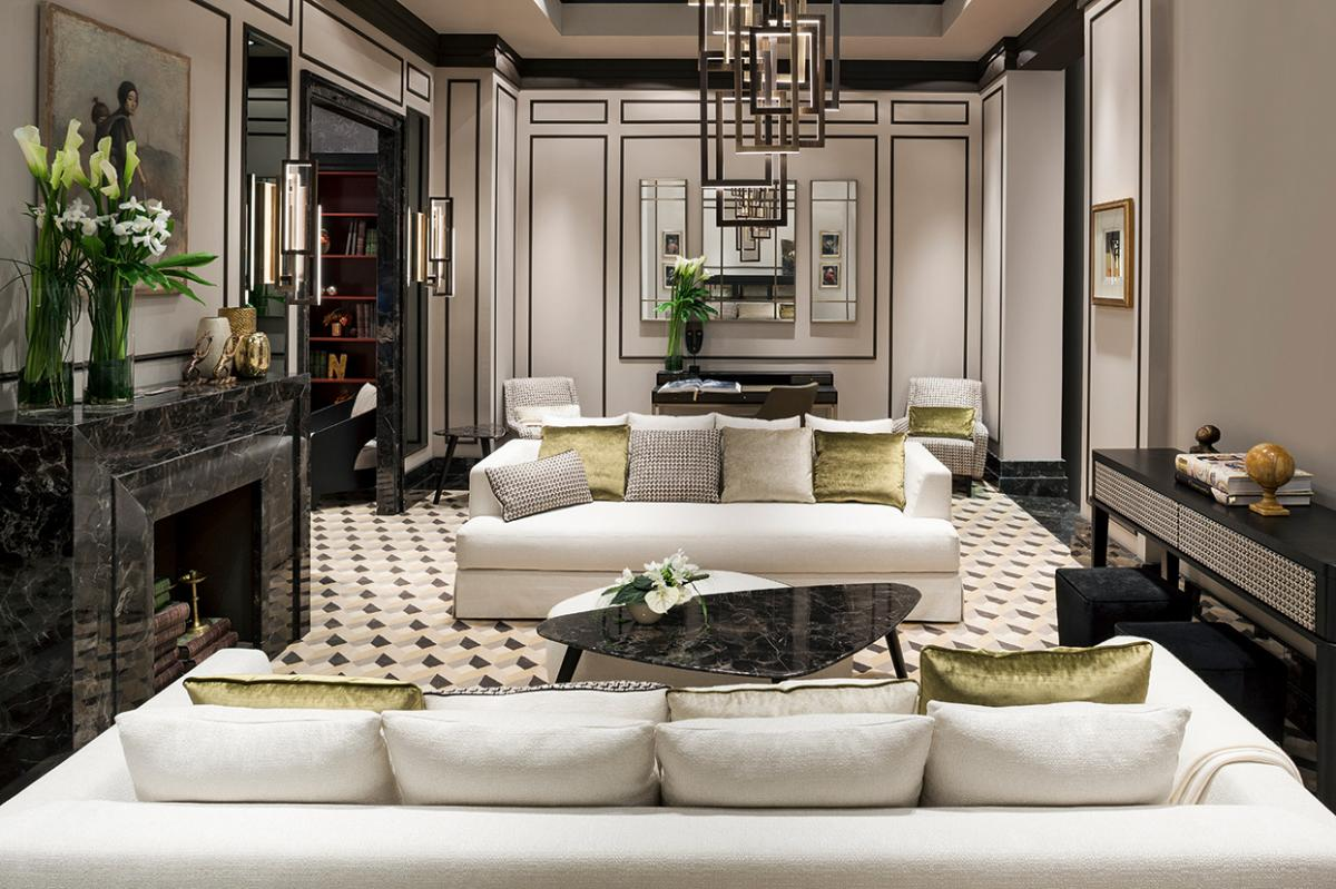Sofa Beige Bright Springy Living Room | Oasis Rooms | Luxury Interior