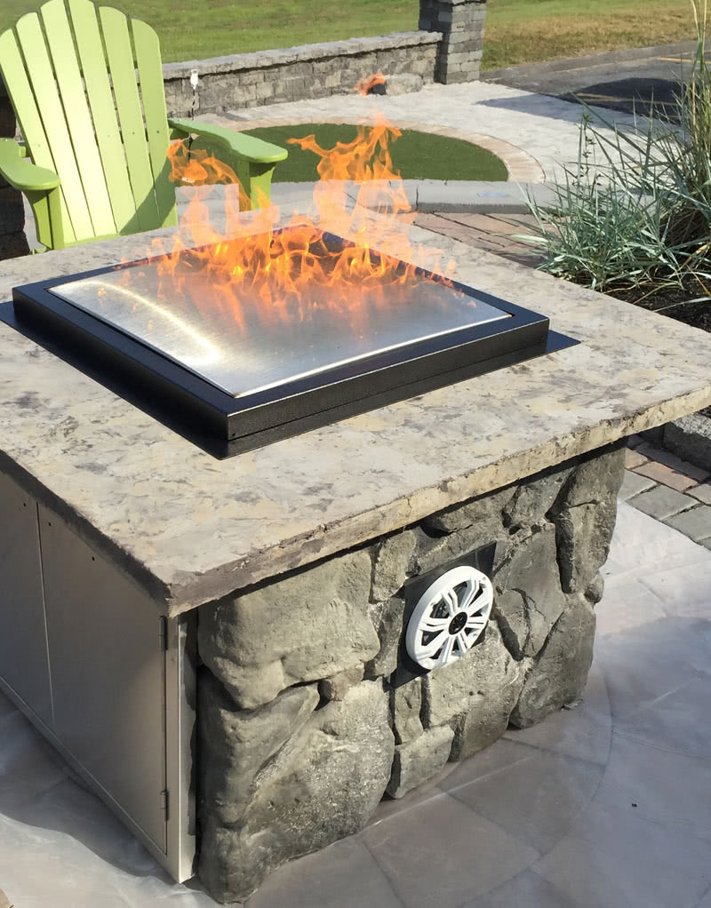Arteflame Patent Outdoor Fire Pit Fireplace Design Build Professional Install