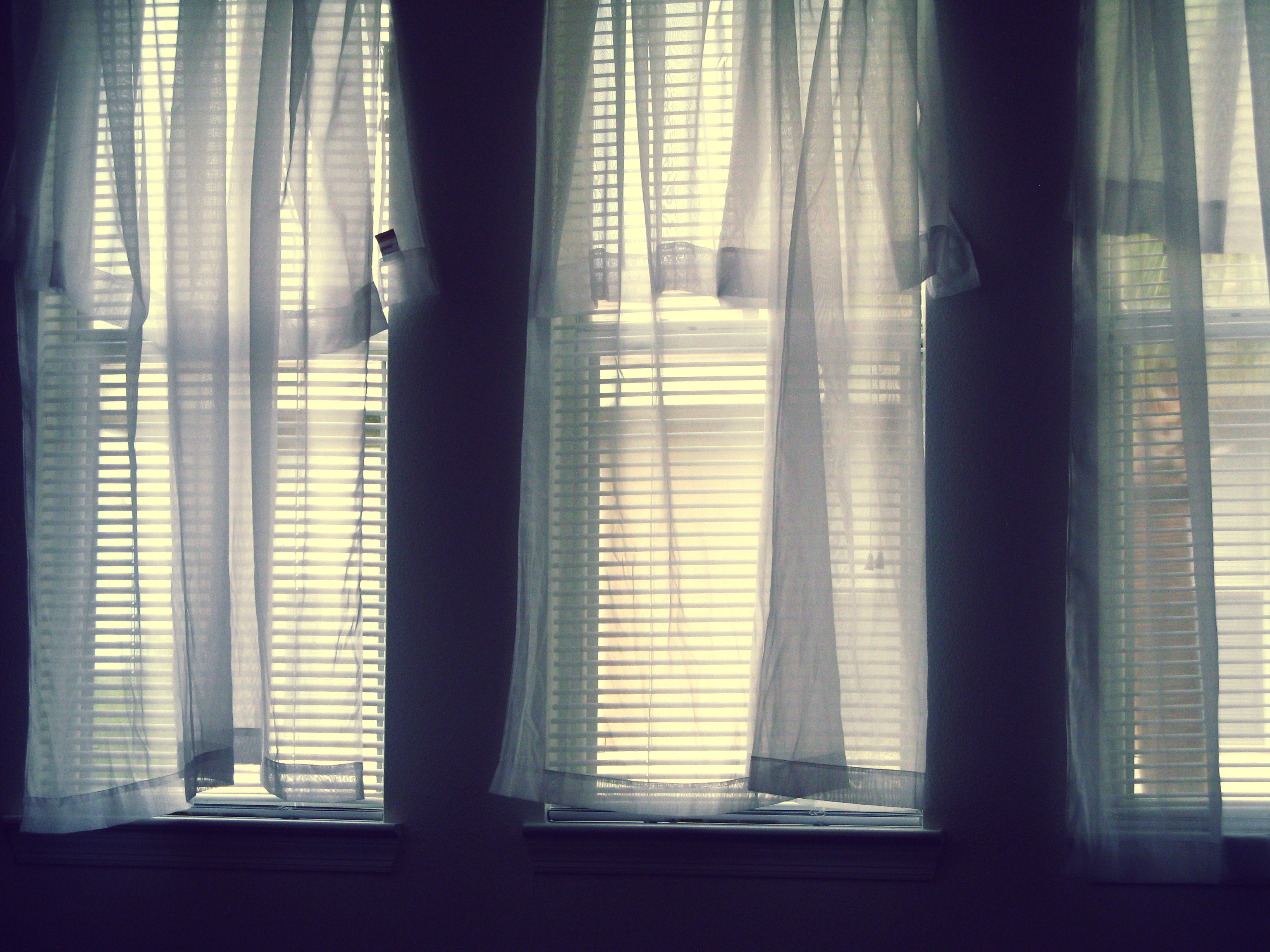 Bay Window With Sheer Curtains