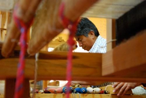Federico Chavez Sosa at his loom in Teotitlan del Valle