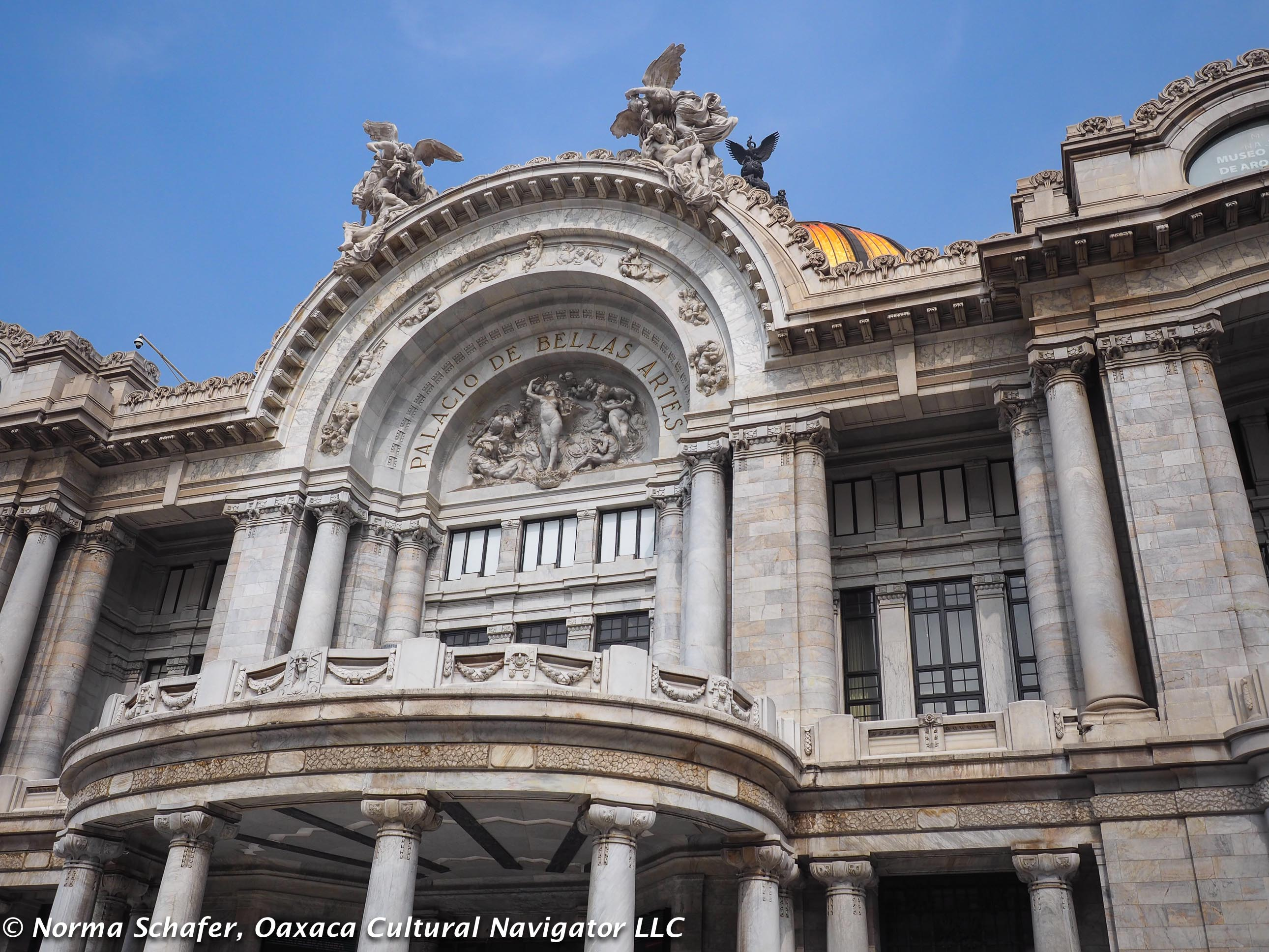 Palacio Bellas Artes built during Porfirio Diaz presidency