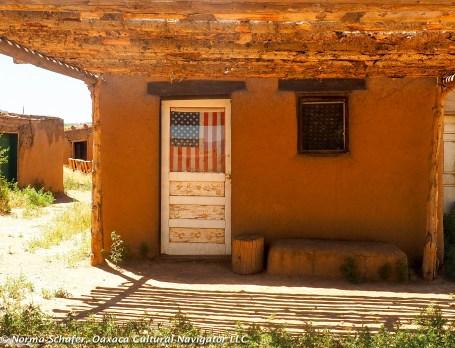 Native American Tiwa people live in the pueblo