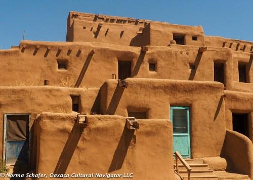 Turquoise doors, Taos Pueblo