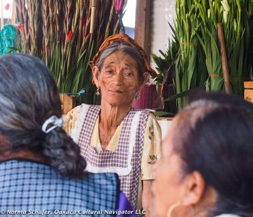 Norma Schafer, basket weaver Margarita, Benito Juarez Market, Oaxaca