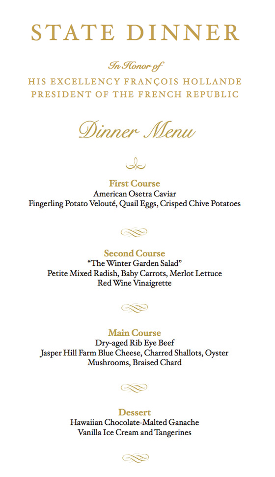 Saw what a state dinner menu looks like and I don\u0027t know what some