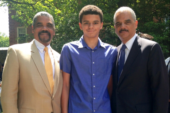 Attorney General Holder With His Son Eric Holder Iii