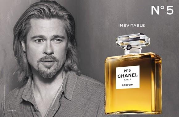 Brad Pitt é o novo rosto da fragrância No. 5 de Chanel.