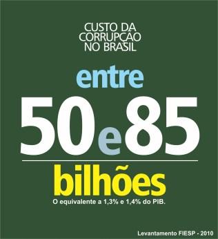 """O custo da corrupção no Brasil é discutido o tempo todo nas redes, sociais, jornais, rádios e TVs. E, para mim, não é um assunto que cansa, é um assunto que """"assusta""""."""