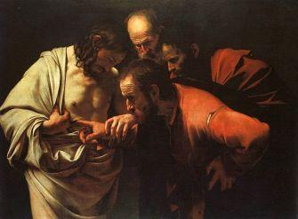 A incredulidade de São Tomas, por Caravaggio.