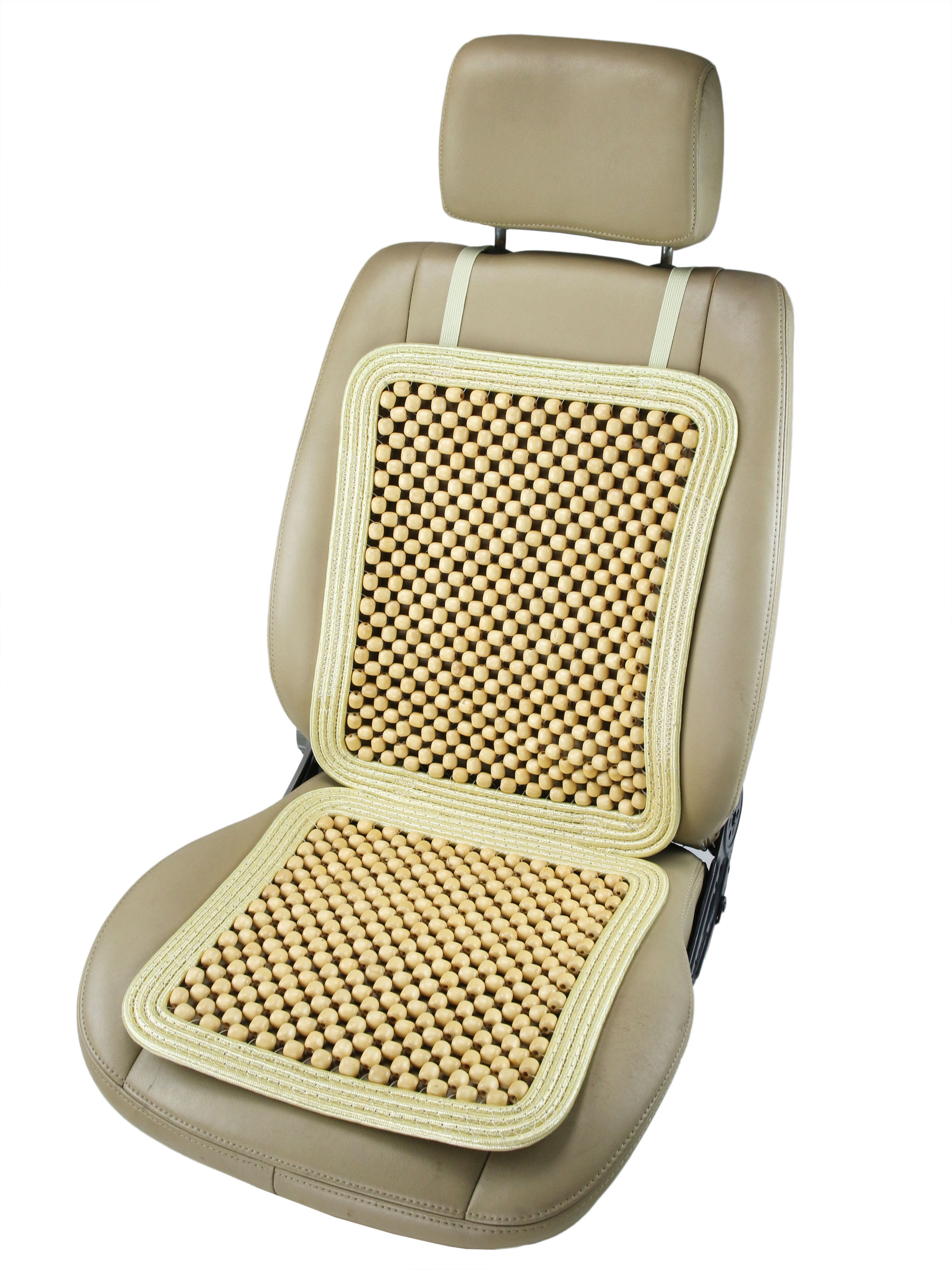 Car Seat Cushions Australia Sw 7340 Natural Wooden Bead Seat Cushion With Border Obbomed