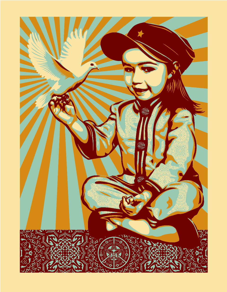Poster Child Prints Poster Child Prints X Obey X Peace Series Prints Obey Giant