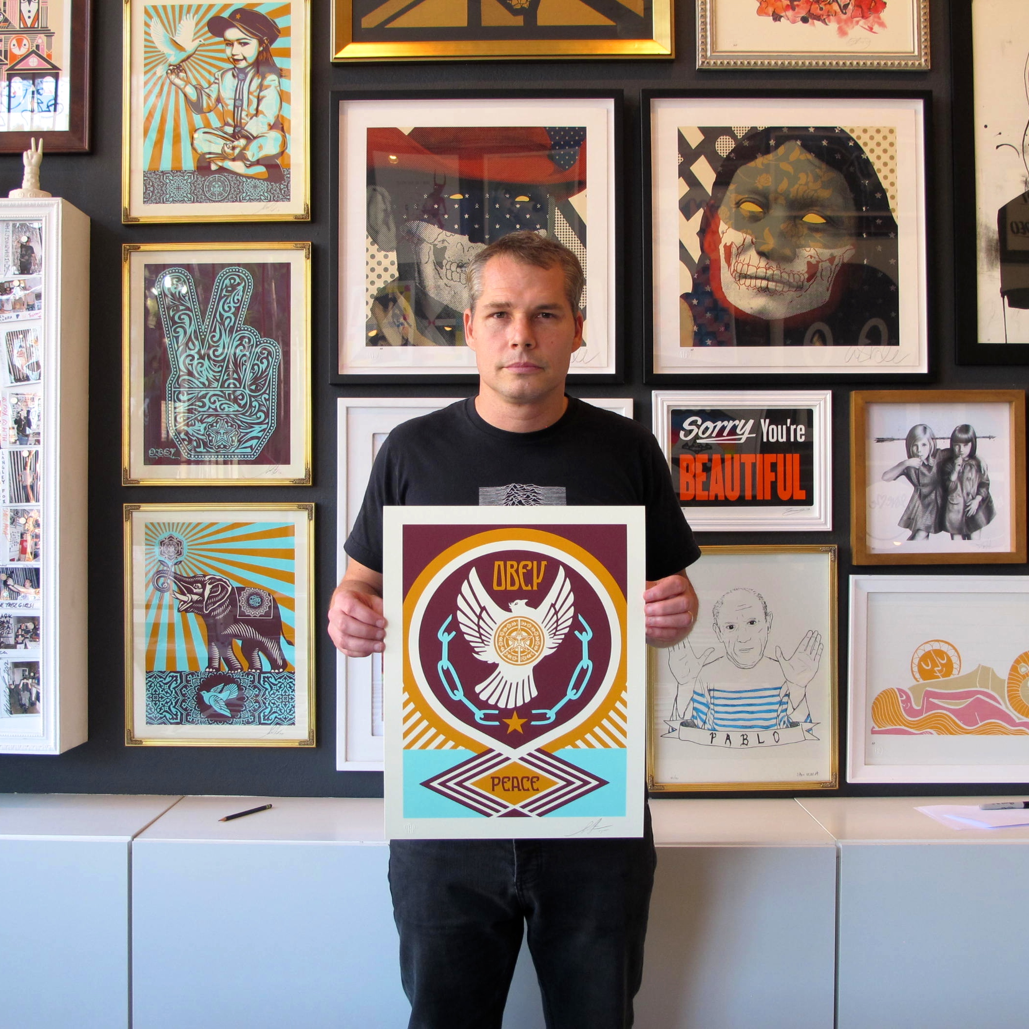 Poster Child Prints Peace Series 2 Doves X Poster Child Prints Release Obey Giant
