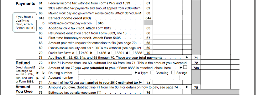 Bbncu How To Fill Out Form 1040 Preparing Your Tax Return