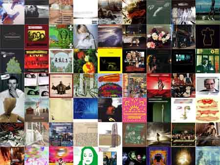 Una colección de portadas de disco