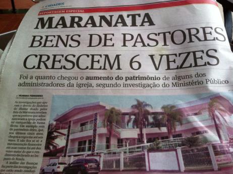 Resultado de imagem para corrupção na Maranata