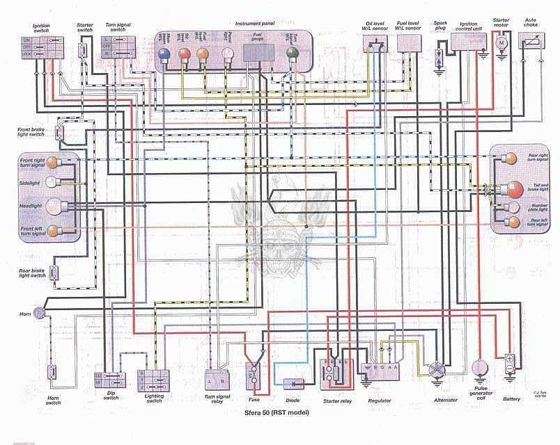 electrical wire diagram honda ch 250
