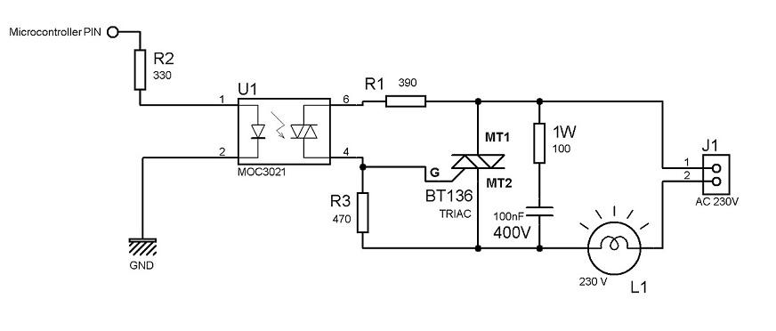 opto triac circuit auto electrical wiring diagram
