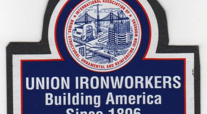Ironworkers Local 433 topping out the Wilshire Grand