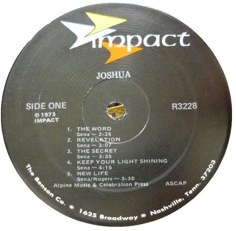 """God Spoke And Said Lead My People from Joshua album by Tony Sena"""