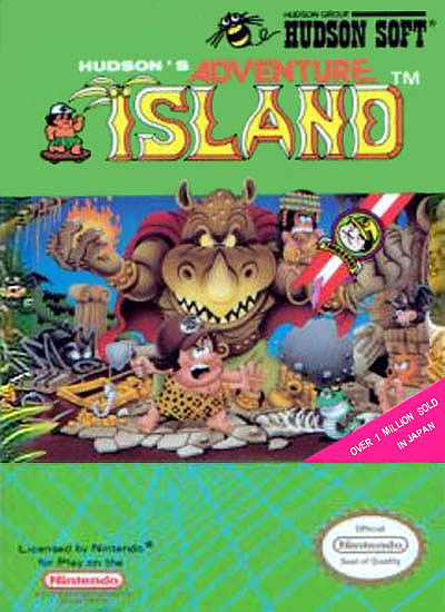 NES Adventure Island Box