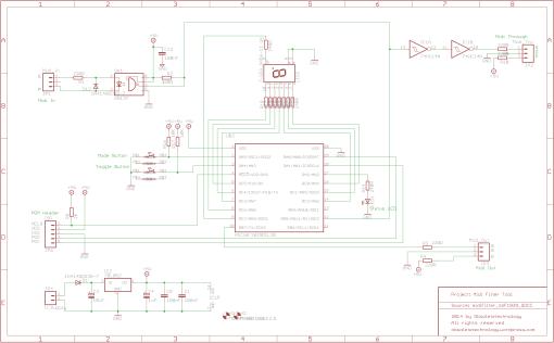 midi pcb schematic diagram