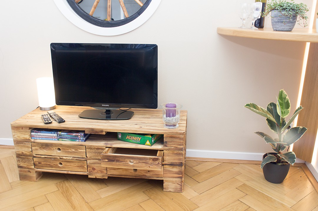 Regal Holzkisten Palettenregal : Vintage Lowboard Tv Kommode Aus