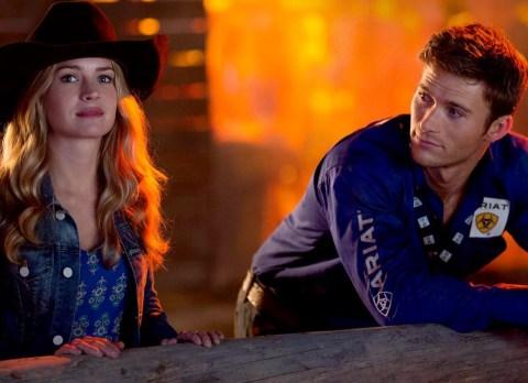 Charlotte, North Carolina native Britt Robertson and Scott Eastwood star in 'The Longest Ride', filmed in Wilmington, North Carolina.