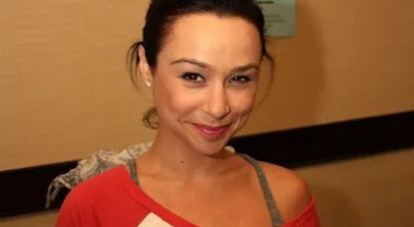 Danielle Harris rocked her new OBXE decal at the Blood on the Beach Horror Convention