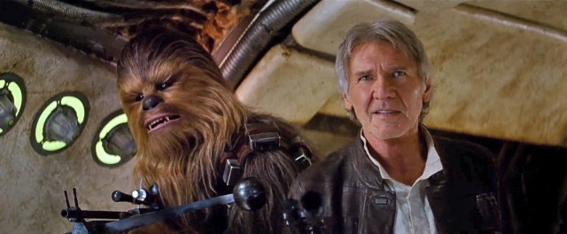 Han and Chewie are back in 'Star Wars: The Force Awakens'.