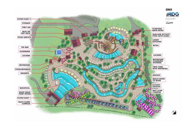 H2OBX Waterpark map