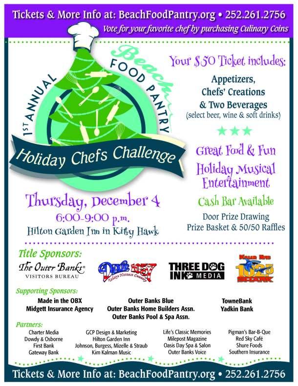 Holiday Chefs Challenge - Dec. 4, 2014 at Hilton Garden Inn, Kitty Hawk