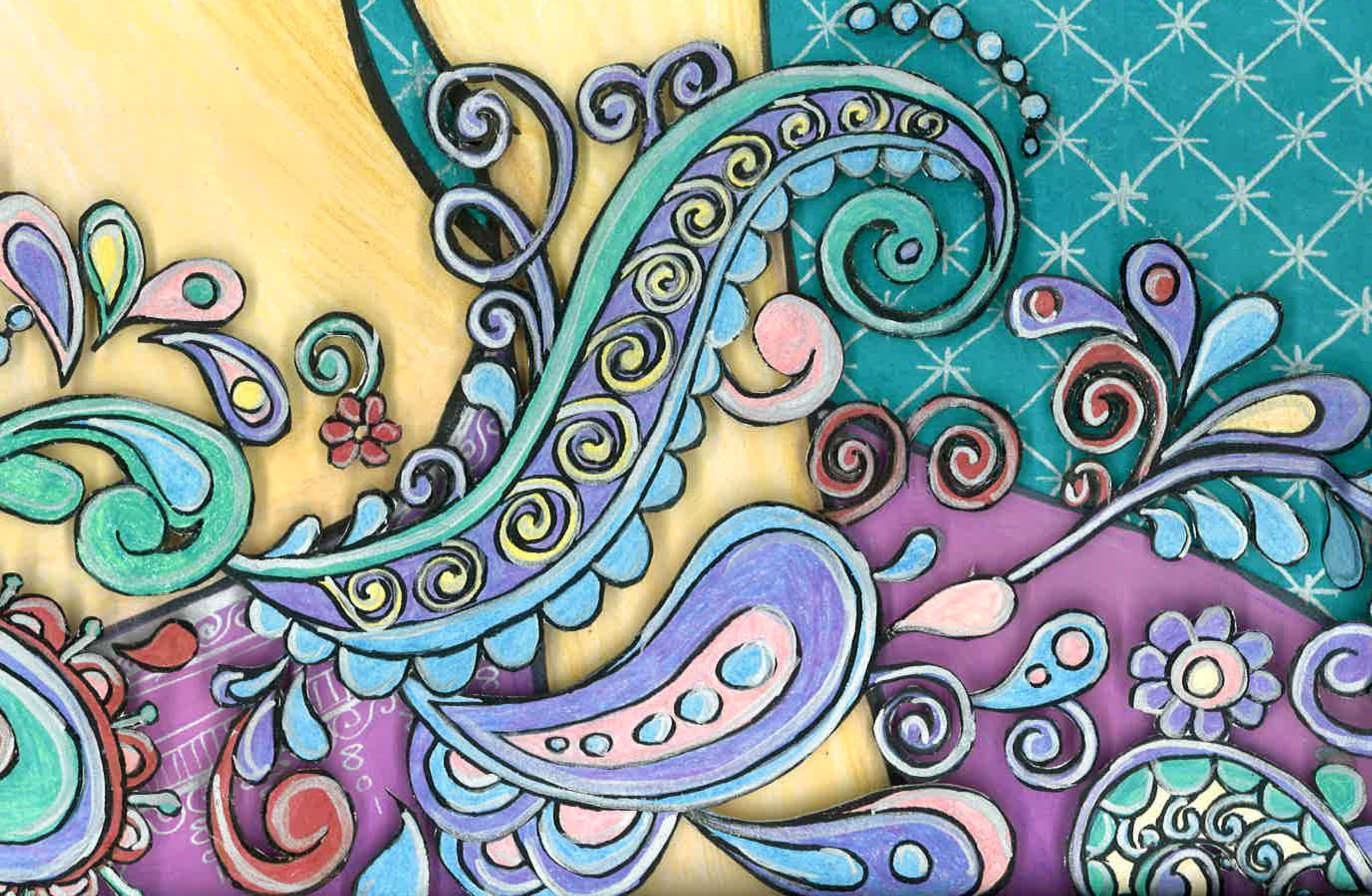 3d Love Couple Wallpaper Paisley Karen Bailey Studio