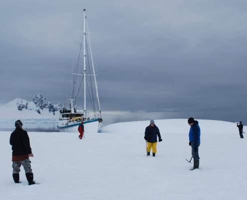Yacht Australis Antarctica sailing