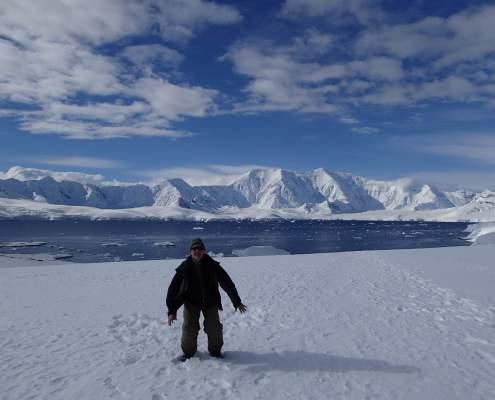 Walking in Antarctica