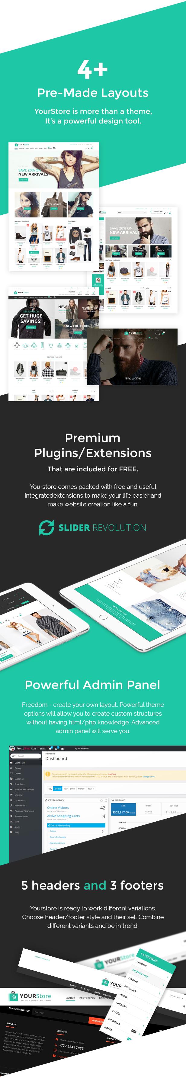 YourStore - Revolution PrestaShop theme